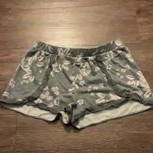 Xhilaration floral pajama shorts gray XS